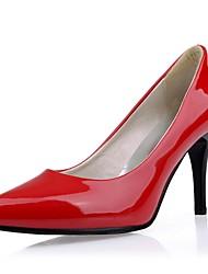 Stiletto couro de patente das Mulheres Bombas sapatos de salto (mais cores)