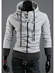 DD Wear Splicing Color Thicken Slimming Hoodie(Light Gray)