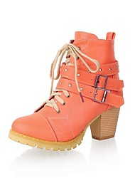 Women's Fashion High Heel Ankle-high Martin Riding Boots with Buckle Decoration (More Colors)