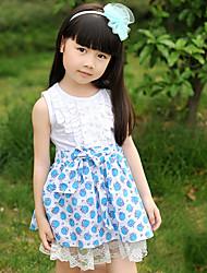 Manches à imprimé floral robe de fille