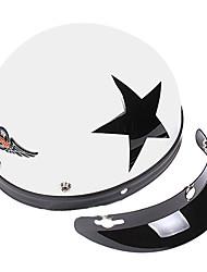 weißen Stern-4 ABS-Material Motorrad Halbschalenhelm