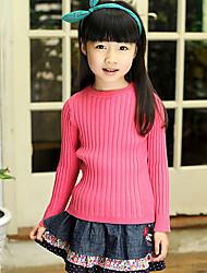 Girl's Solid Sweater & Cardigan,Knitwear Winter