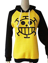 Inspiré par One Piece Trafalgar Law Anime Costumes de cosplay Hoodies Cosplay Imprimé Noir / Jaune Manche Longues Manteau