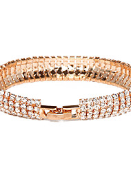 Women's Bangles Tennis Bracelet Crystal Alloy Gold Plated Simulated Diamond Unique Design Fashion Jewelry Jewelry 1pc