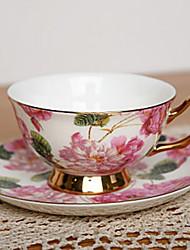 Crisantemo tazza di caffè, porcellana 7 oz