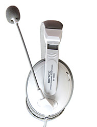 SENICC ST-2688 Over-Ear Headphone woth Mic e remoto per PC / iPhone / Samsung / HTC (bianco)