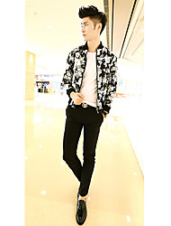 Men's Handsome Stand Collar Slim Jacket