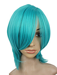 Capless Synthetic Short Blue Straight Party Wig