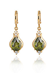 Boucles d'oreilles en or 18 carats Zircon ER0267 de Xinxin femmes
