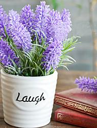 "6 ""H Moderne stijl Lavendel in keramische vaas"
