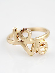 Kayshine Women's Golden New Arrival Love Pattern Couple Ring