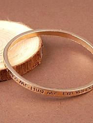 Women's Fashion Gold Alloy  Pray Make a Wish Bracelet