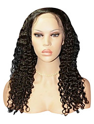 "20"" Brazilian Remy Deep Wave Human Hair Lace Front Wigs"