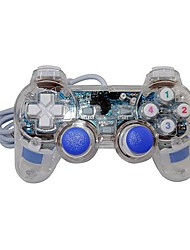 USB 2.0 Mono Shock Gaming Controller with Light Effect for Games