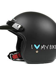 schwarz ABS-Material Motorrad Halbschalenhelm