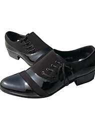 Patent Leather Men's Flat Heel Comfort Oxfords Shoes With Lace-up