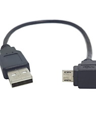 U2-205 Down Angled 90 Degree Micro USB to USB Data Charging Cable for Samsung I9500 I9300 N7100