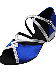 Color Block Suede Upper Arch Strap Dance Sandals Dance Shoes For Kids Or Ladies(More Colors)