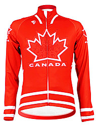 Kooplus - Canadian National Cycling Team manga comprida velo Jersey