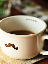 Mustache Coffee Mug,Ceramic 5oz