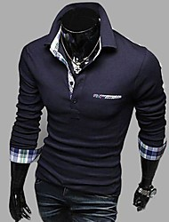 Men's Long Sleeve Fashion Casual Polo T Shirt