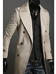 Uomo Slim doppiopetto Trench Coat