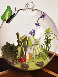 Table Centerpieces Round Glass Vase/Terrarium - Manor  Table Deocrations