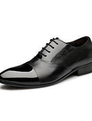 Zapatos de Hombre Oxfords Boda / Oficina y Trabajo / Vestido / Casual / Fiesta y Noche Cuero Negro