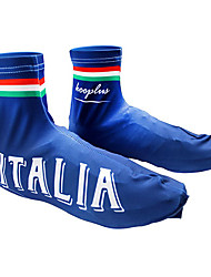 KOOPLUS - Italian National Team Polyester+Lycra Blue Cycling Shoes Cover
