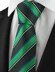 New Striped verde Mens Tie vestito convenzionale Cravatta Partito per Wedding Souvenir