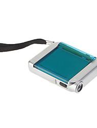Одномодовый светодиодный фонарик с рулеткой и Pen (серебро + зеленый)