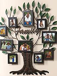 molduras colagem árvore genealógica única, conjunto de 10