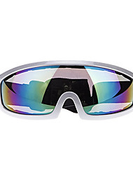 Fashionable Reflective Lens Motorcycle Racing Goggles Silver Frame