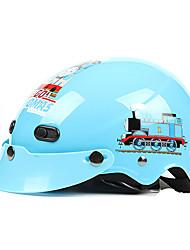 Blue Train-3 ABS Material Motorcycle Half Helmet (For Kids)