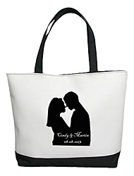 Personalized Gift Canvas Lovers Pattern Horizontal Flat Tote Bag