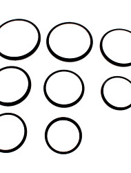 8 Metal Step Up Ring 49-52-55-58-62-67-72-77-82 Lens Filter Stepping Adapter Set