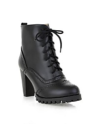 Women's Cone Heel Platform Ankle-high Martin Boots (More Colors)