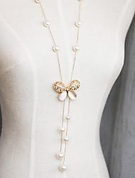 clásico (colgante mariposa) de perlas de imitación de marfil con colgante de ópalo (1 pc)