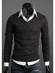 Élégant Slim Fit V Neck Sweater