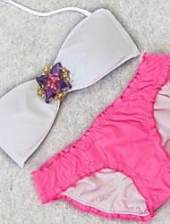 Trendy Sexy Bikini Swimwear con diamantes de imitación