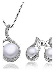 Platinum Fashion bijoux plaqué perles d'