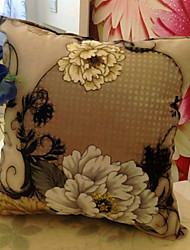 Poliéster Cojín con Relleno , Floral Moderno/Contemporáneo