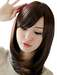 Medium Straight Hair Synthetic Side Bang Mainstream Wigs Heat Resistant