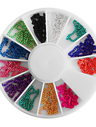 Mixed-color Bead Chain Wheel Nail Art Decorations
