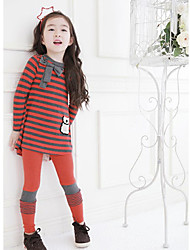 Girl's Clothing Set,Striped Cotton Winter