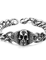 Skull Character Classic Men's Titanium Steel Bracelet with High-quality Goods