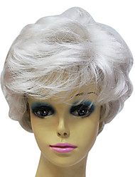 Capless High Quality Synthetic Janpanese Kanekalon Short Grey Color Short Hair Wig