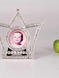"3 ""Cadre H style moderne Crown Metal Photo"