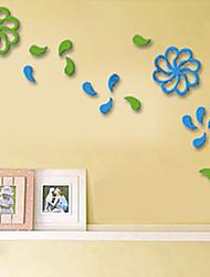 Mur 1pc Floral Autocollants 3D