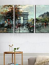 Leinwand Kunst Landschaft Triumphbogen 3-er Set